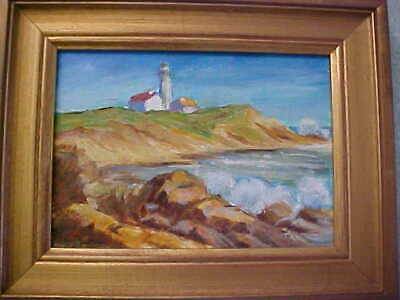 No Res Montauk Light Long Island Oil Painting Montauk Point Lighthouse New York