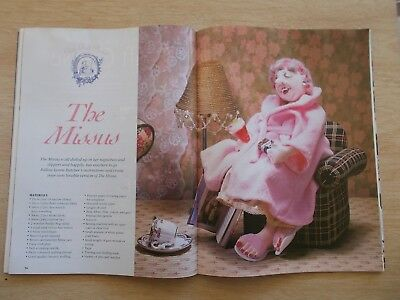 ADB&C Vol 8 #3~Doll & Bear Patterns~The Missus~Irish~Little Ben~Layette~Santa...