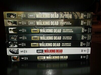 The Walking Dead Complete Seasons 1,2,4,5,6,7 & 8 DVD LOT