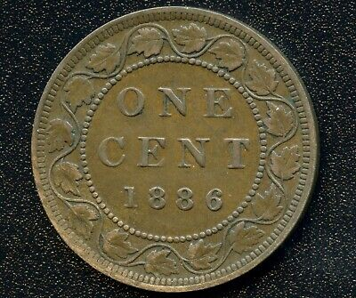 1886 Canada 1 Cent Coin Obverse 2