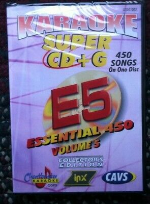 Chartbuster Essentials Karaoke Scdg E5, 450 Songs, Cavs Super Cd+G ($99.99)