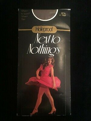 Vintage Stockings By Holeproof (Next To Nothings) Metal X-Tall Brand New