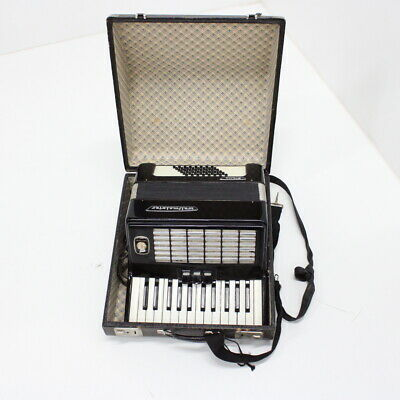 Vintage Weltmeister Stella German Accordion Musical Instrument Black #452