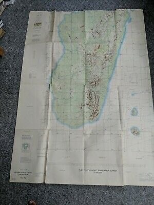 Raf Topographic Navigation Chart Large Foldout Map Central & Southern Madagascar