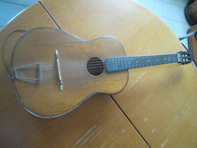 409.00Early 900 Guitar No Title Block Mancante Cartiglio Liutaio