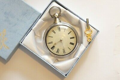 Beautiful Antique Solid Silver VERGE Fusee PAIR CASED Pocket Watch Dated 1837.