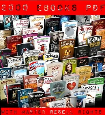 2000 Various eBooks Collection With Master Resell Rights