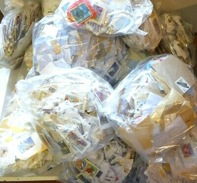 Large bundle - 5.5 kg of stamps for washing from backings ##REC77BS