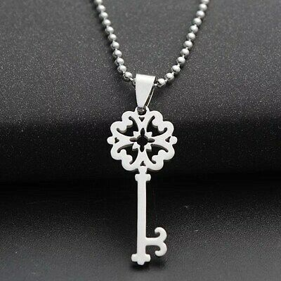 Fashion Charm  Key Silver 316L Stainless Steel Titanium Pendant Necklace G21