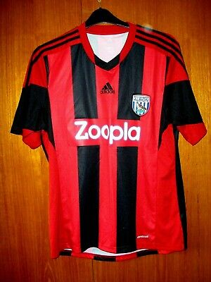 West Bromwich Albion Football Shirt Rare adidas 2013/14 Red away size L 42/44