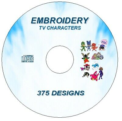 New Embroidery Machine Designs Cartoon Tv Characters 375 Cd Pes Format Brother