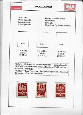 Poland Occ General Gouvernement collection on album pages (R40)