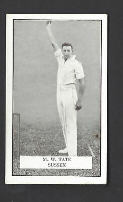 Gallaher - Famous Cricketers - #79 M W Tate, Sussex