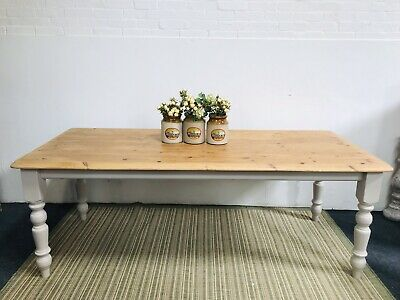 Large 7ft Pine Farmhouse Rustic Shabby Chic Painted Dining Table DELIVERY*