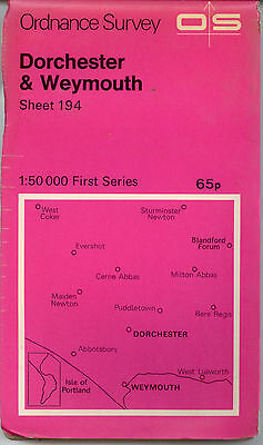 1974 Ordnance Survey map, Dorchester & Weymouth, 1:50000 First Series sheet 194