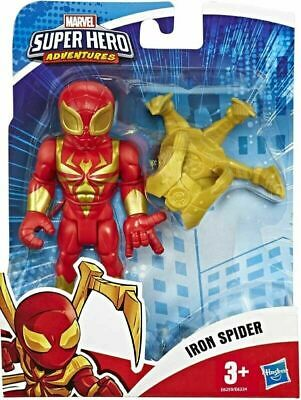 "New Hasbro MARVEL Avengers Super Hero Adventures 5"" IRON SPIDER Figure Playskool"