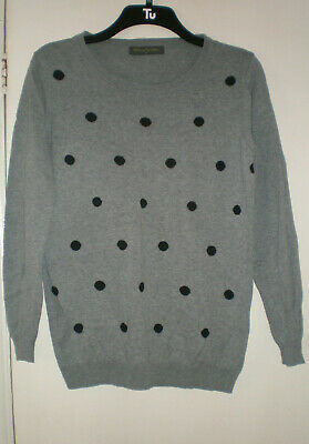 Maternity jumper by Blooming Marvellous  grey/black polka dot size 10