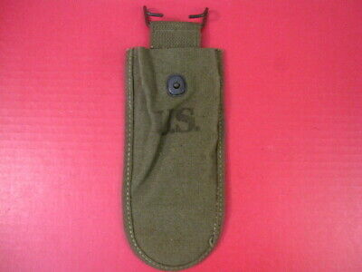 WWII US Army M1938 Canvas Wire Cutter Belt Pouch - Dtd 1944 - OD Green  Unissued