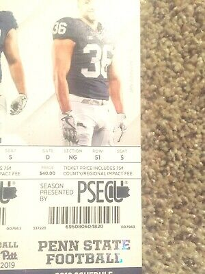 (2) Penn State Football Tickets vs Idaho (8/31/2019) With Parking Pass