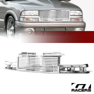 CHROME & BLACK Front End Grill Grille for 83-90 Chevy S10