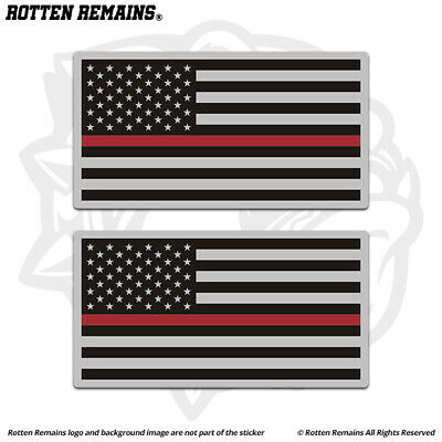 Tattered Thin Red Line Canada Subdued Flag Decal Firefighter Sticker EVM