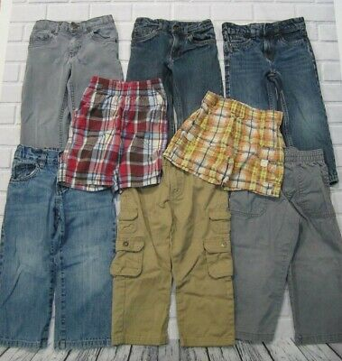 Lot of 8 Boys Size 3T Toddler Pants Shorts Elastic Stretch Waist Lee Cherokee