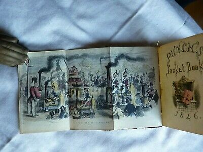 Illustrated -  PUNCH'S POCKET BOOK FOR 1846 - Almanac and Six Plates