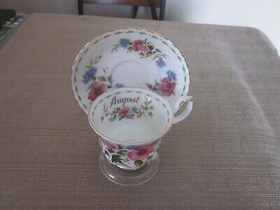Vintage Royal Albert POPPY August Flower Of The Month CUP & SAUCER England