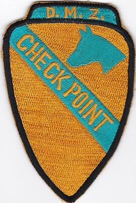 US Army 1st Cavalry DMZ Checkpoint Patch N-14