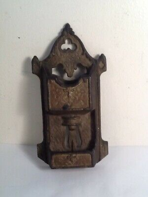 Rare Antique 1870 Cast Iron Gothic Matchbook - Match Holder