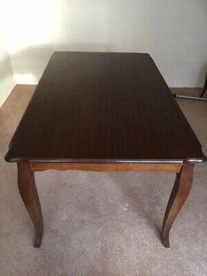 Vintage dining table, lovely classic shape, ready for restoration