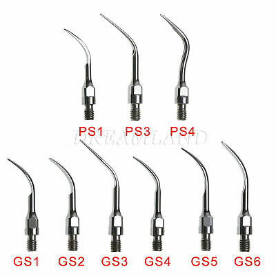 9x Dental Perio Scaling Tips PS GS Fit SIRONA Ultrasonic Scaler Piezo Handpiece
