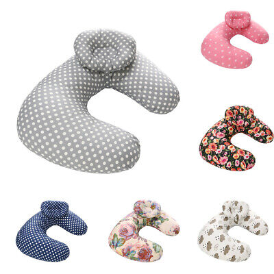 Cute Iafant Baby Kid Breastfeeding Nursing Cotton U-Shape Pillow Cover Slipcover