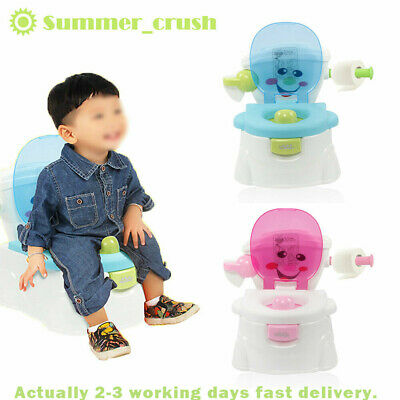 2 in 1 Kids Baby Toilet Seat Toddler Training Potty Trainer Safety Chair Urinal