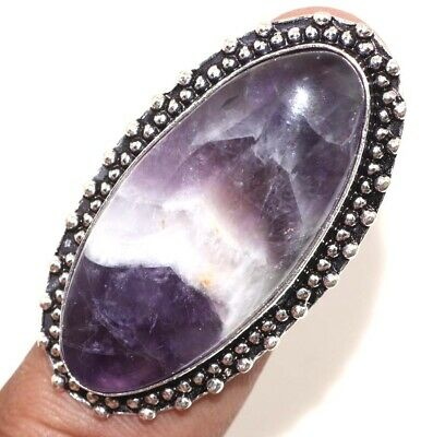D16274 Amethyst Lace 925 Sterling Silver Plated Ring Us 7