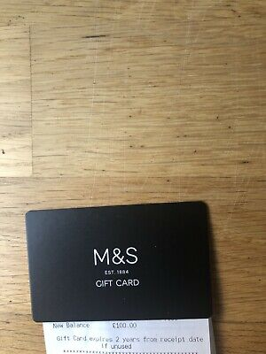 Marks & Spencer  M & S Gift Card  Value £100