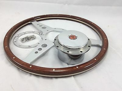 Classic MGA 15 Inch Woodrim Steering Wheel Inc Pol Boss