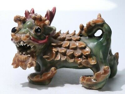 Chinese Exquisite porcelain carved statue long 11.5cm