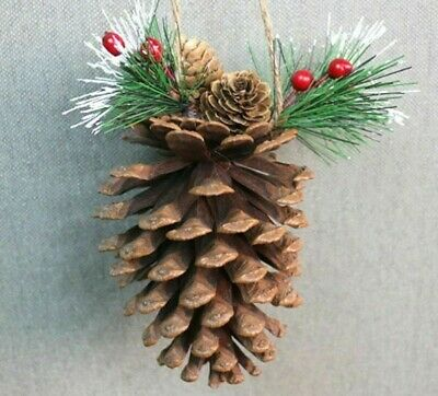 Ornaments Acorn Artificial Flower Natural Pine Cone  Christmas Tree Decorations