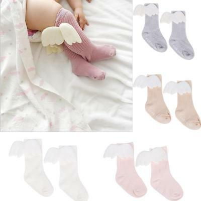 Fashion Baby Cotton Angel Cute Wings Stockings Knee Length Tight Soft Socks LC