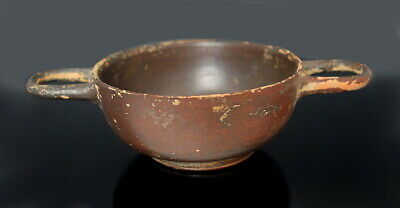 Greek Terracotta Attic Stemless Kylix (M649)