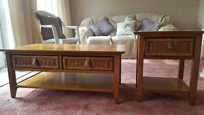Next Coffee Table And Matching Side Table Brown 2000