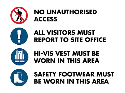 Building Site HiVis Safety Sign