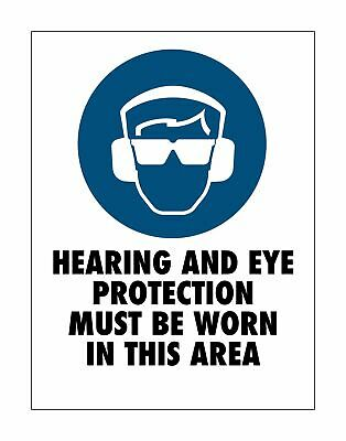 Hear And Eye Protection Area Sign