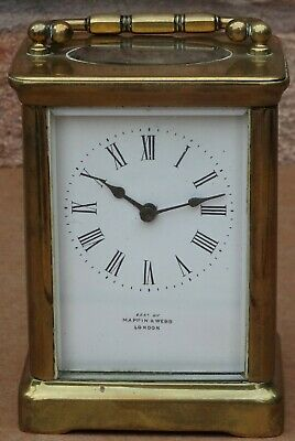 Splendid Looking Old Heavy Quality Brass Mappin & Webb Carriage Clock