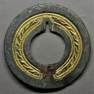 Extremely Rare Early Anglo-Saxon Gilded Quoit Brooch. Circa 5Th-6Th Century.