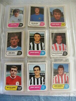 Lot A&Bc 1969 Football Quiz Fact Cards X 83 Plus Many Swaps Green Back