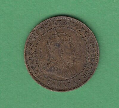 1908 Canadian Large One Cent Coin - VF