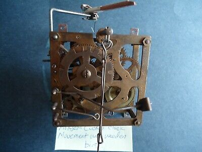 Vintage Angen Cuckoo Clock Movement With Wooden Bird for parts or repair
