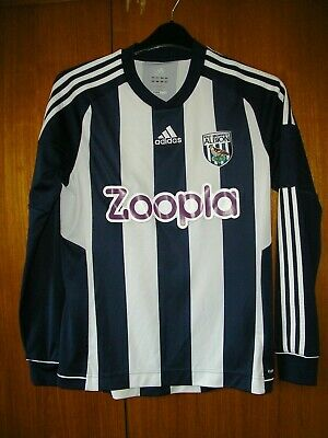 West Bromwich Albion Football Shirt adidas 2012 Home shirt size S 36/38 long slv